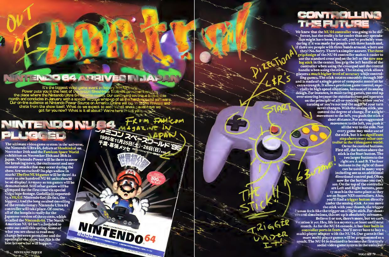 Nintendo Ultra 64 Spread Nintendo Power Issue 79 December 1995