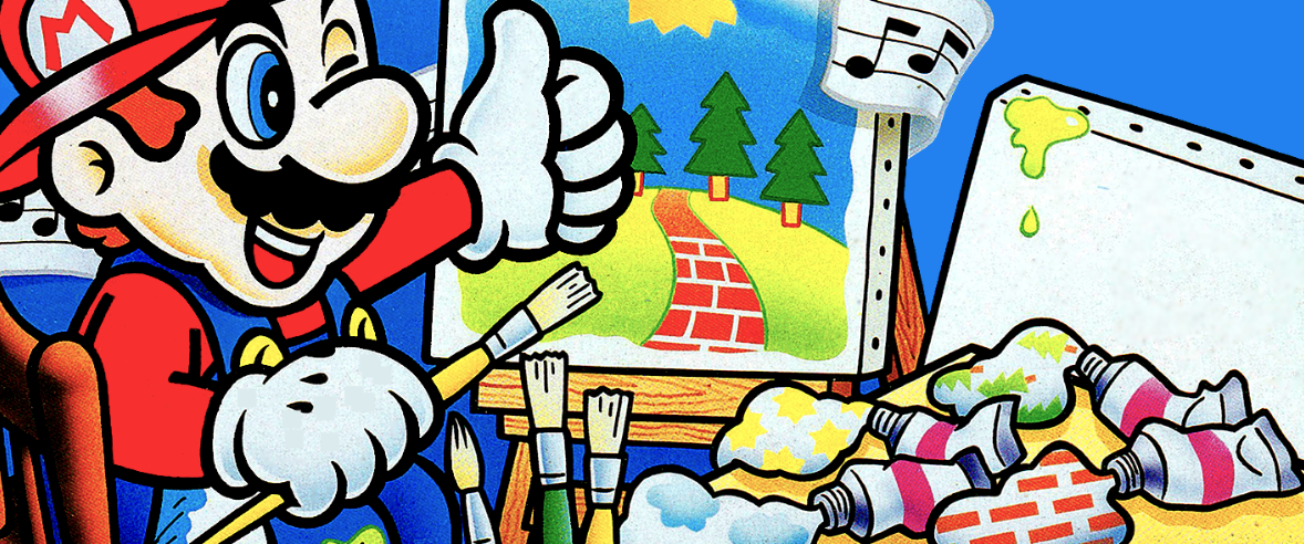 Mario Paint Box Cover Art Banner