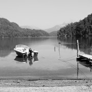 Barco no Lago Espejo Chico