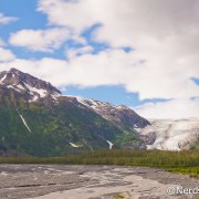 Caminho até o Exit Glacier