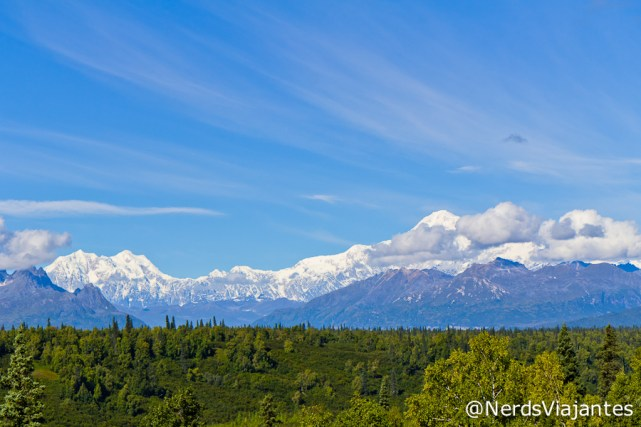 Alaska Highway 3 - Mirante com vista para o Denali - Alasca