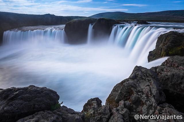 Cachoeira Godafoss, no norte da Islândia