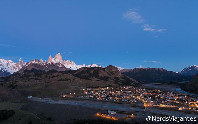 El Chaltén e montanhas da região vistos do Mirador de Los Condores - Patagônia Argentina