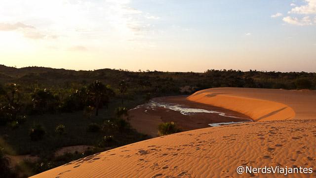 Pôr do sol nas dunas do Jalapão - Tocantins