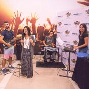 Blogueiros participando do Music Lab no Hard Rock Hotel & Casino Punta Cana