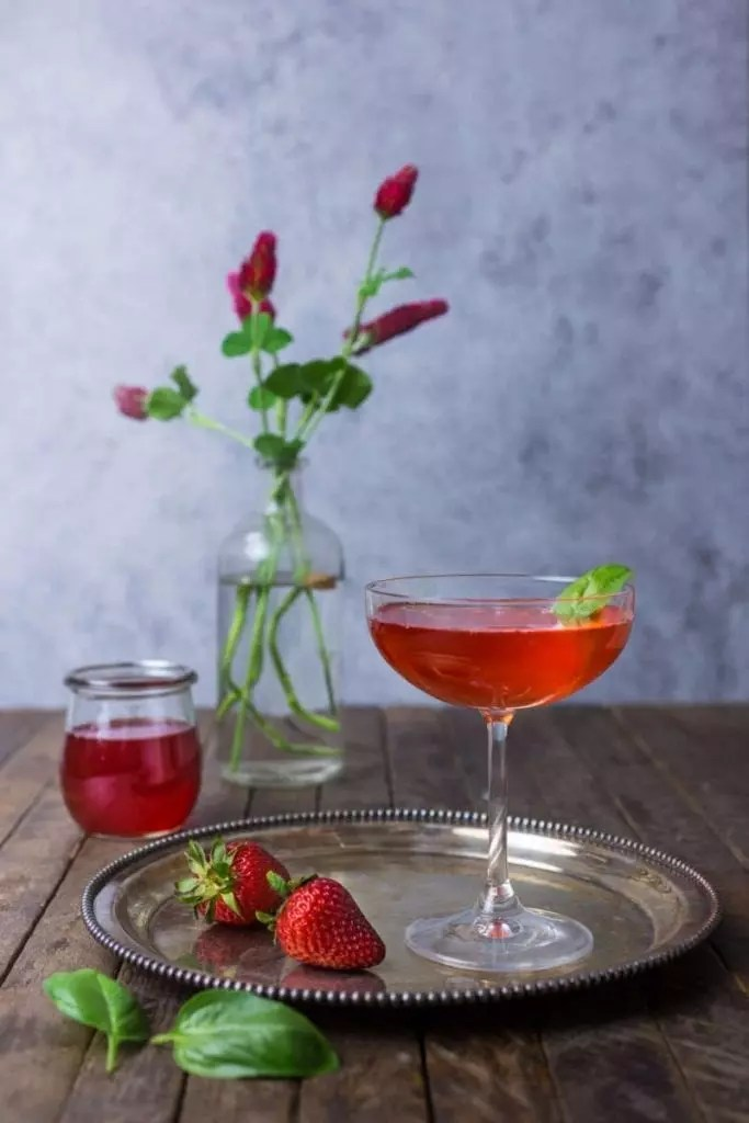Strawberry-Basil Martini