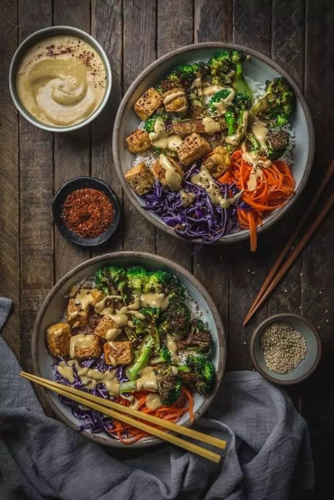Charred Broccoli and Tofu Bowl