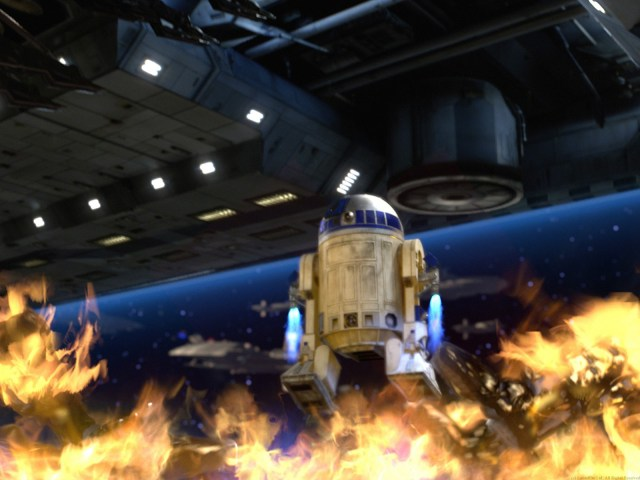 r2 vs battle droids