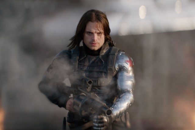CAPTAIN AMERICA: THE WINTER SOLDIER - 2014 FILM STILL - Winter Soldier/Bucky Barnes (Sebastian Stan) - Photo Credit: Marvel