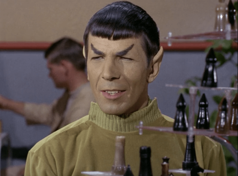 Why is Spock smiling? This is Star Trek right?