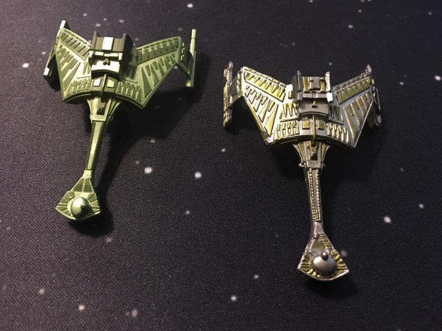 The B'Moth and Algeron models. Notice the command tower moved between models.