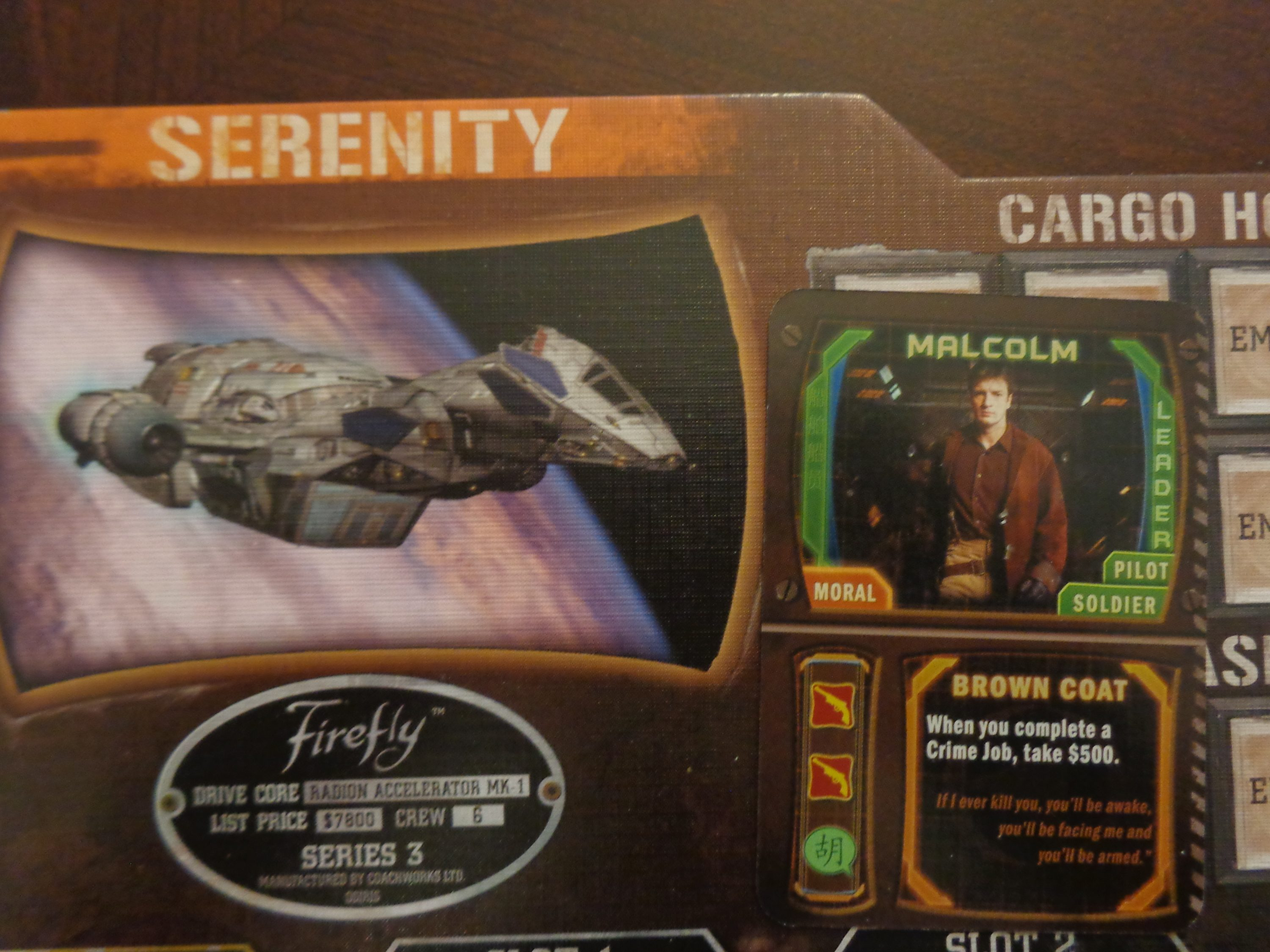 Firefly the board game keep on flying there are many fireflys but this ones mine biocorpaavc