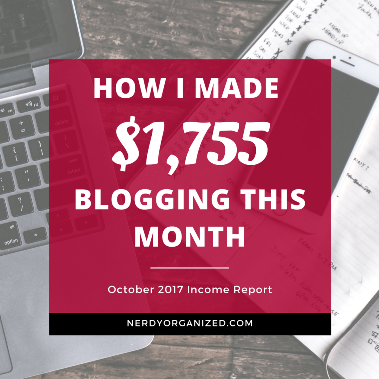 Read my Blog Income Report for October 2017!