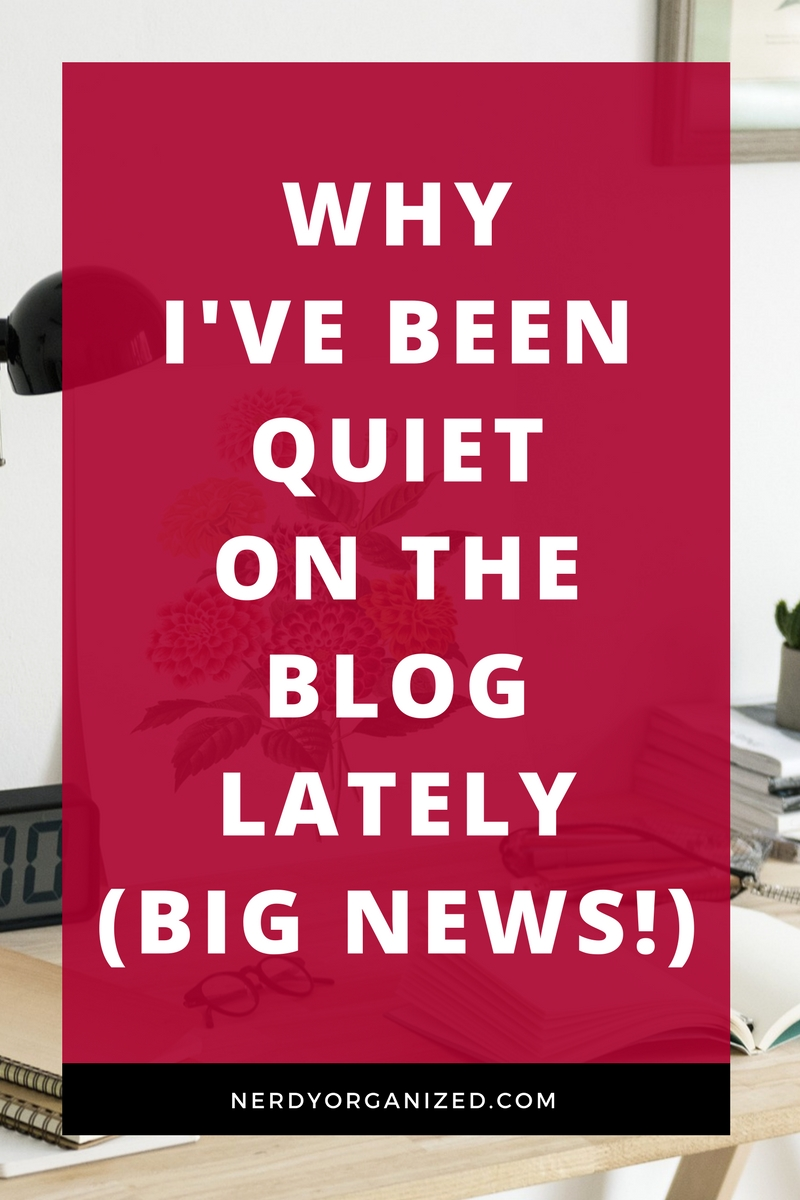 Why I've Been Quiet On The Blog Lately (BIG NEWS!!)
