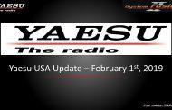 Yaesu USA update Feb. 1st, 2019