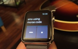 Nifty app uses Morse code to send Apple Watch messages