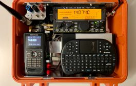 Small QRP-GO-BOX powered by Raspberry Pi4, KX2 and TH-D74