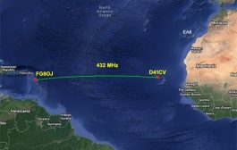 Historic first Trans-Atlantic contact made on 432 MHz – Tues 7th April 2020