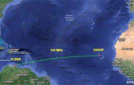 New 144 MHz Transatlantic Record Reported