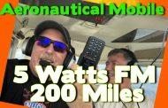 Aeronautical Mobile. Contacts 100 Miles + on a 5 watt Handheld