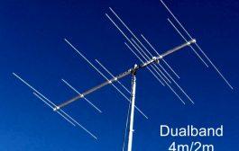 A Dualband 50/70MHz Yagi with single feedpoint – 5/7 (12) element 144/70MHz Yagi (2.4m)