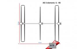 Antenna Dinamica 3el Yagi 6 to 40 meters