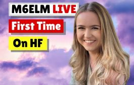 Emily YL Op M6ELM – First Timer Pile Up – LIVE on HF