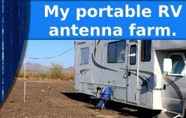My portable RV antenna farm