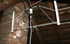 40/20/10 Meter Fan Dipole Attic Antenna by KD2GOE
