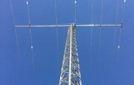 JK2040-Hawk – Yagi antenna of 5 elements for the 20 m band and 3 elements for the 40 m band on a 40 foot (12.19 m) boom