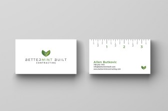 Logo Design and Business Card Design for Bettermint Built in Edmonton