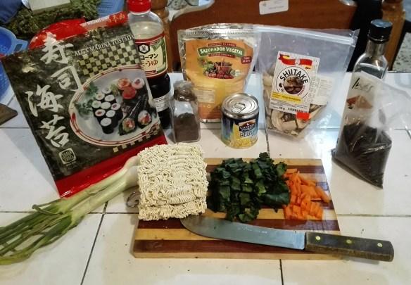 ramen vegano shoyu