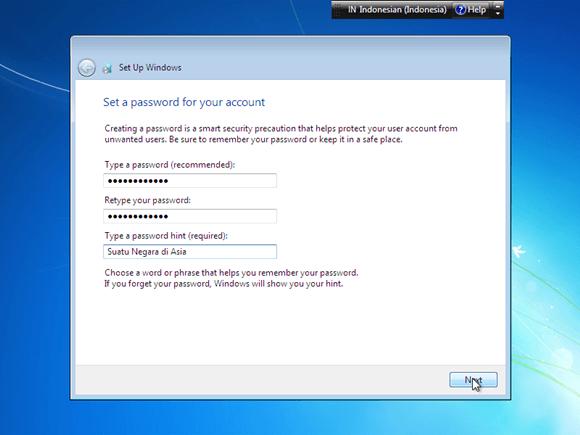 beri password