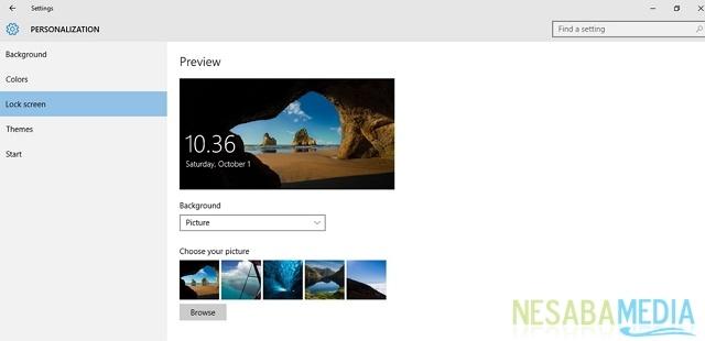 panduan cara kustomisasi tampilan lock screen pada Windows 10
