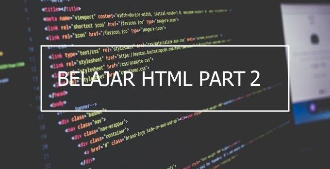 Pengertian Tag, Attribute dan Element di HTML