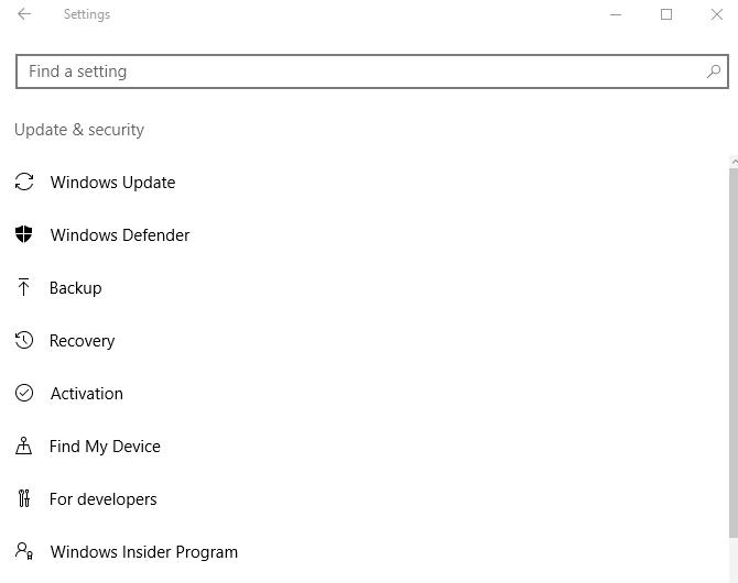 Selanjutnya Windows Defender