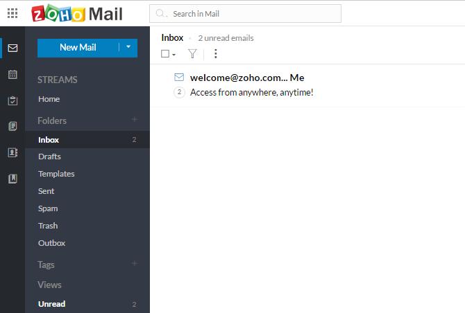 Berikut tampilan inbox email anda