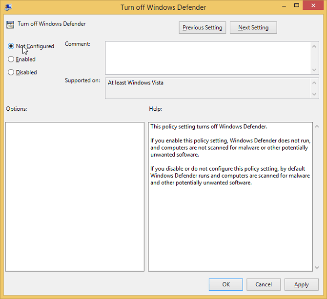 windows defender tidak bisa diaktifkan windows 8