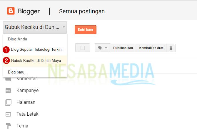 pilih blog baru