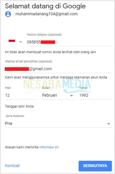 cara membuat email lewat HP