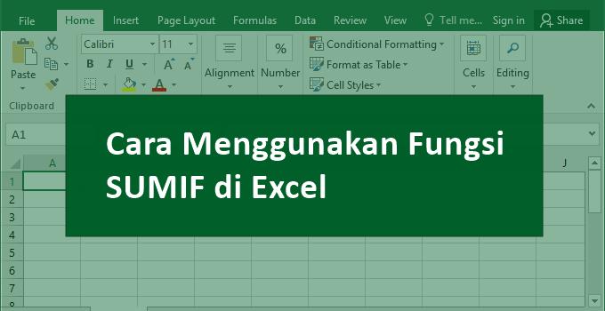 Rumus Excel SUMIF