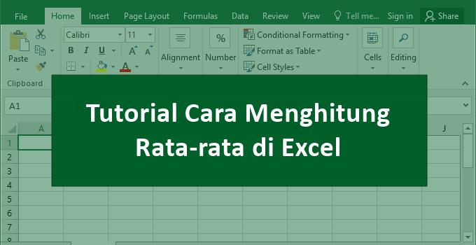 Cara Menghitung Rata-rata di Excel