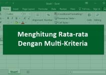 cara menghitung rata-rata dengan multi-kriteria di Excel