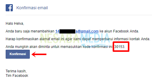 Langkah 7 - buka email lalu konfirmasi