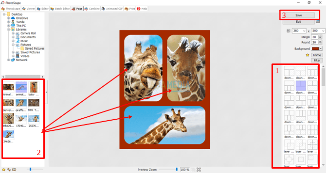 cara menggabungkan foto di laptop