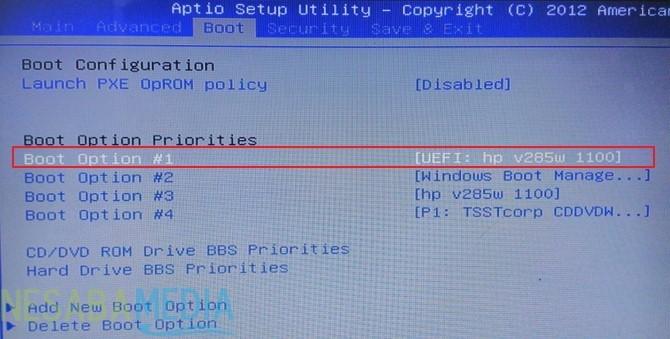 Setting BIOS