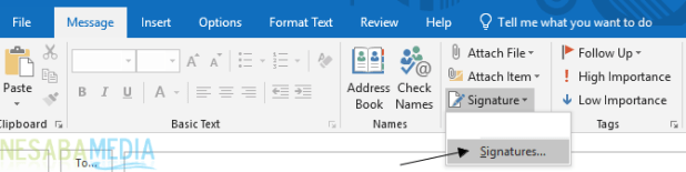 How to Create a Signature in Outlook 1