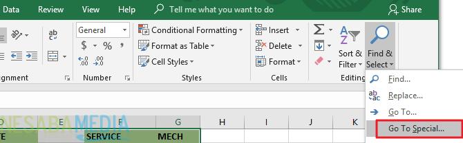 Cara Menghapus Kolom dan Baris Kosong di Excel 1