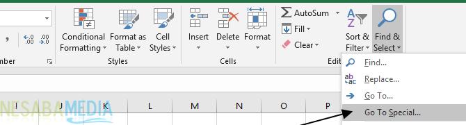 Cara Menghapus Kolom dan Baris Kosong di Excel 7