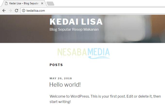 Website anda sudah berhasil diakses
